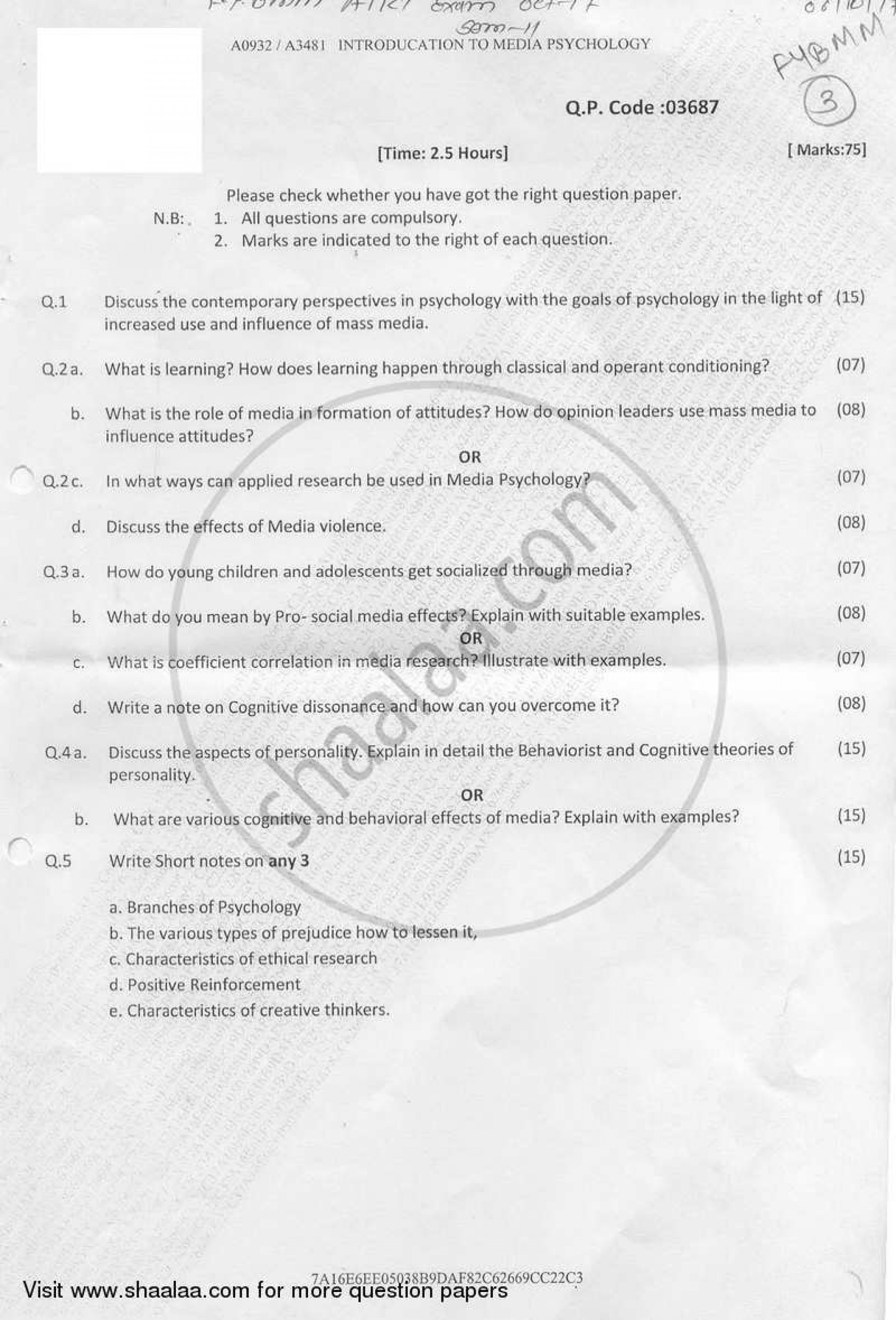 023 Research Paper University Of Mumbai Bachelor Introduction Psychology Bmm Semester 2018 29b73b27c702e4cf4b760d9b34fc0067a Unforgettable Papers 2017 1920