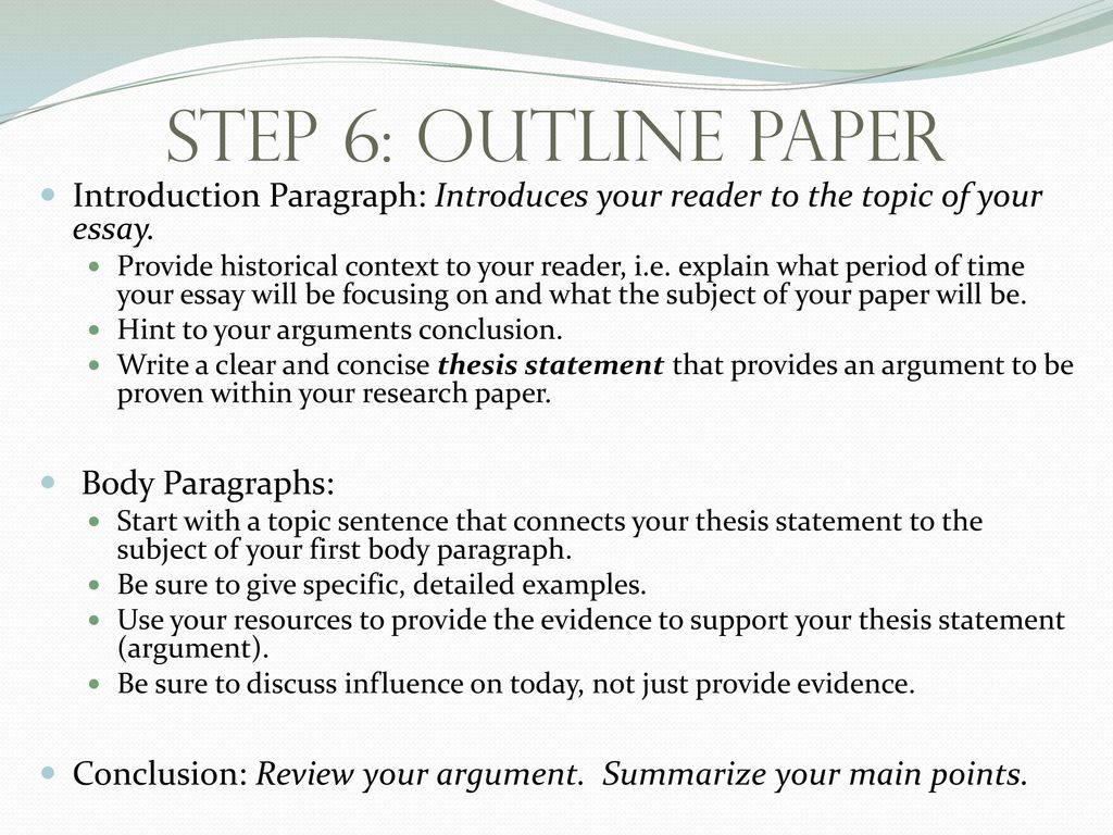 023 Step63aoutlinepaperintroductionparagraph3aintroducesyourreadertothetopicofyouressay How To Start Research Paper Frightening Paragraph Your First Body In A Conclusion Full