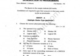 023 Wbut 1st Sem Introduction To Programming Previous Year S Question Papers Research Paper Incredible Example Format Apa Paragraph Generator Sample Tagalog