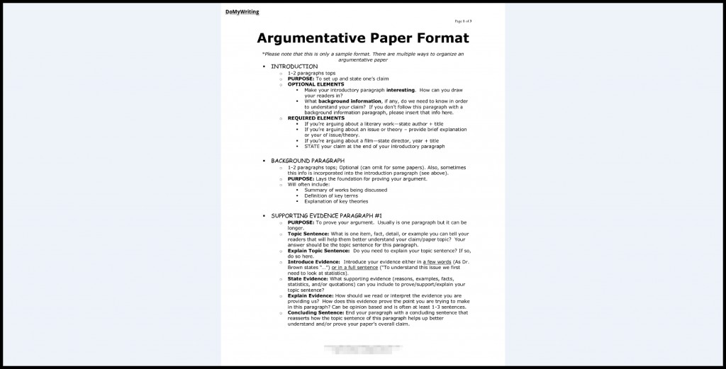 024 Argumentative Essay Format Research Paper Archaicawful Introduction Sample Of Large