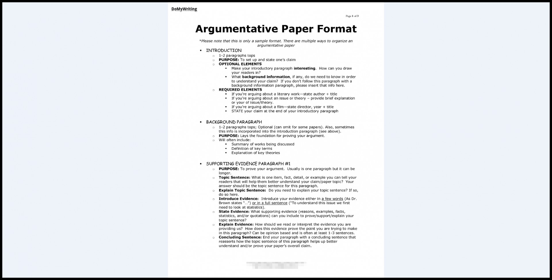 024 Argumentative Essay Format Research Paper Archaicawful Introduction Sample Of 1920