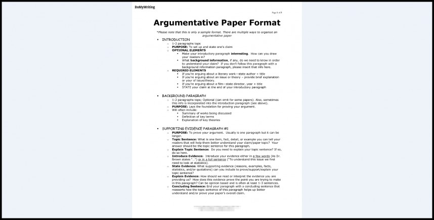 024 Argumentative Essay Format Research Paper Archaicawful Introduction Sample Of