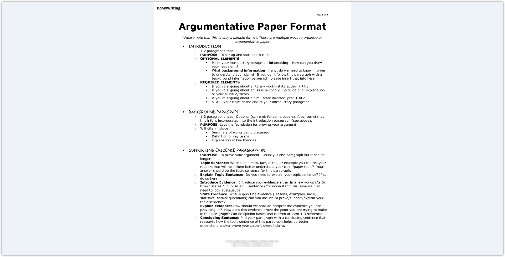 024 Argumentative Essay Format Research Paper Archaicawful Introduction Sample Of Full