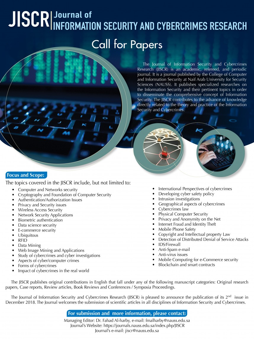 024 Call For December Cyber Security Research Dreaded Paper 2019 Papers 2018 868
