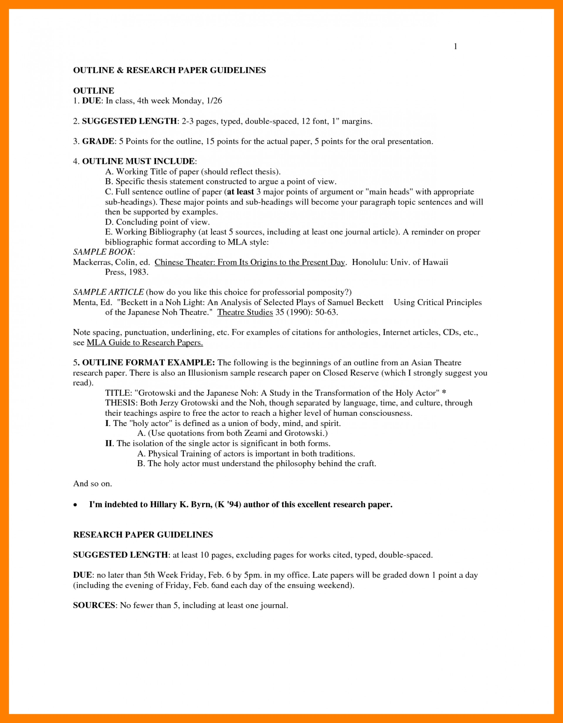 024 Research Paper In Mla Style Format Outline Examples 33896 Excellent Example Title Page 1920