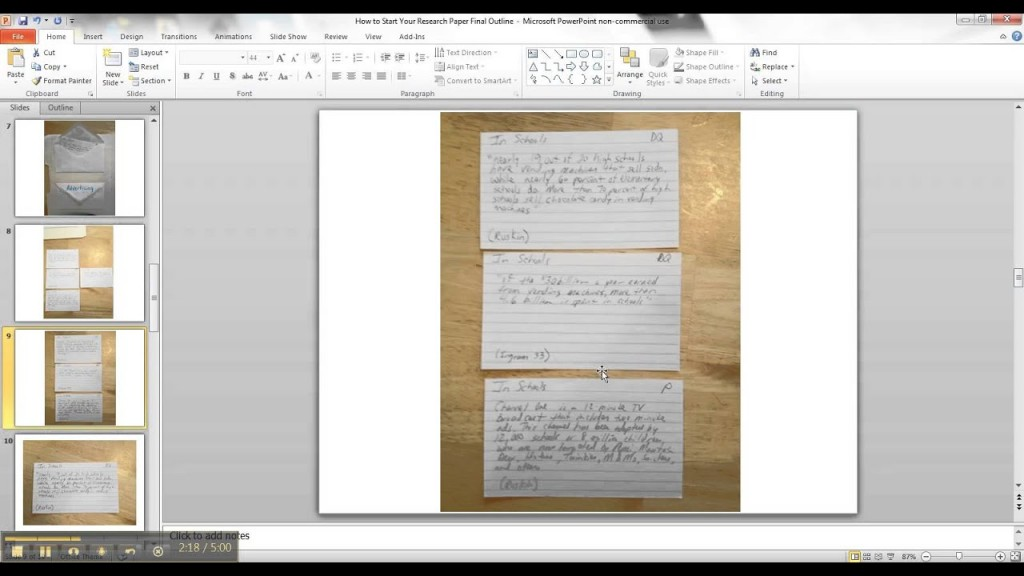 024 Research Paper Maxresdefault Note Cards Examples For Unique A Example Card Format Template Large