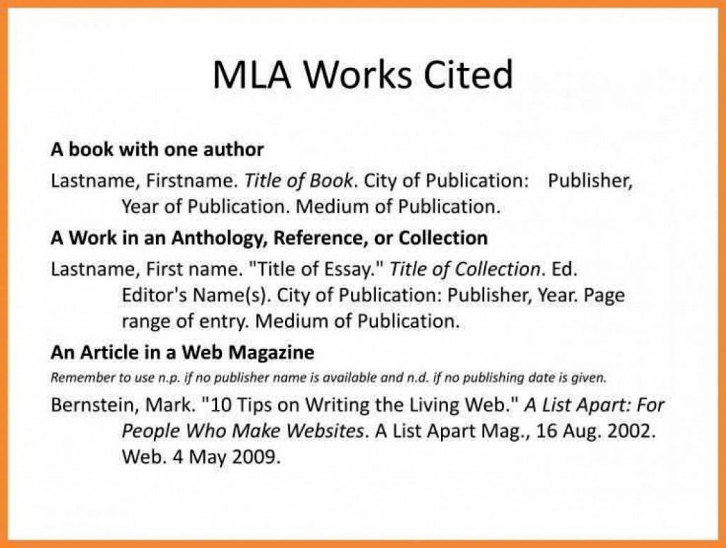 024 Research Paper Mla Works Cited Citation Example Citations In Format Work N Well Meanwhile Formats For Unusual Large