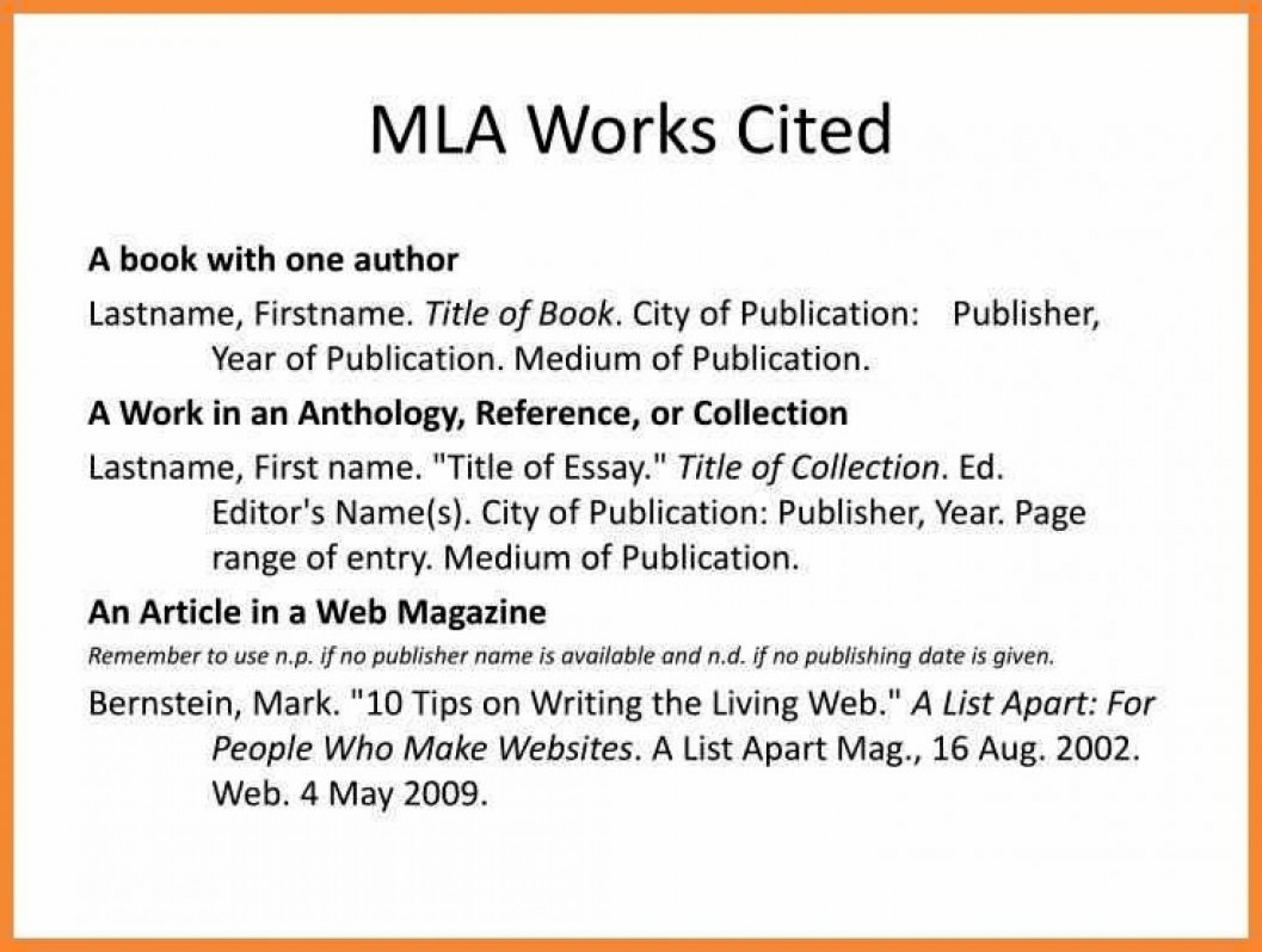 024 Research Paper Mla Works Cited Citation Example Citations In Format Work N Well Meanwhile Formats For Unusual 1920