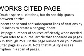 025 Do Works Cited Page Research Paper Unique Examples Mla Format