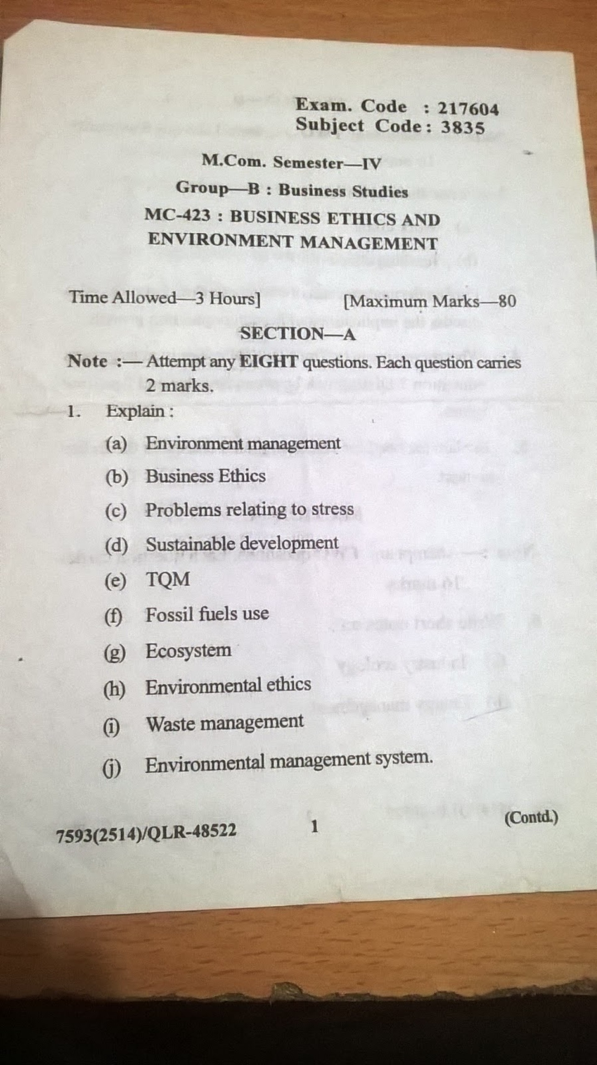 025 Research Paper Business Management Topic For Businessethicsandenviornmentmanagement4thsem Unforgettable Topics Techniques Pdf 1920
