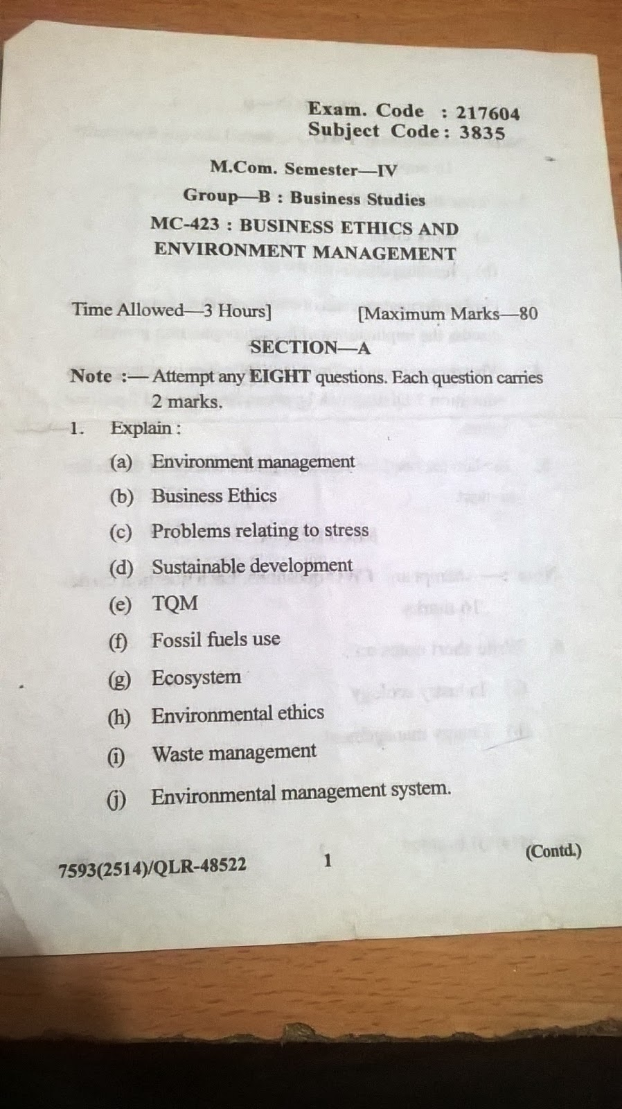 025 Research Paper Business Management Topic For Businessethicsandenviornmentmanagement4thsem Unforgettable Topics Techniques Pdf Full