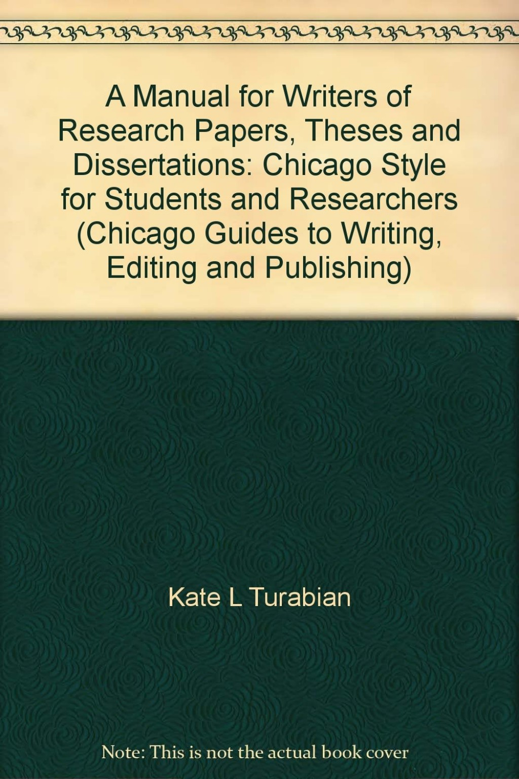 025 Research Paper Manual For Writers Of Papers Theses And Dissertations Turabian Amazing A Pdf Large