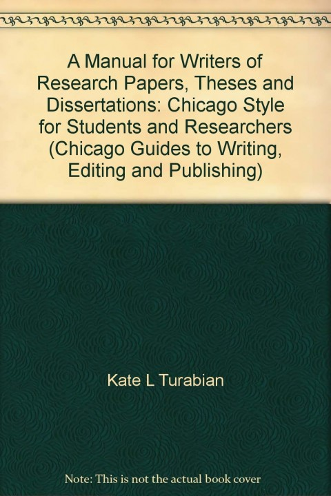 025 Research Paper Manual For Writers Of Papers Theses And Dissertations Turabian Amazing A Pdf 480