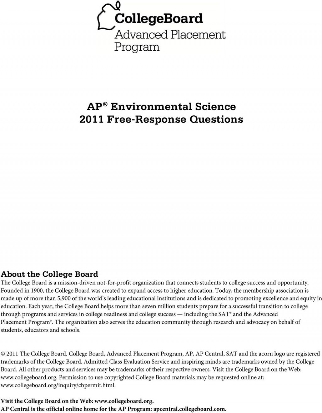 025 Research Paper Page 1 Ap Environmental Science Fearsome Topics Large
