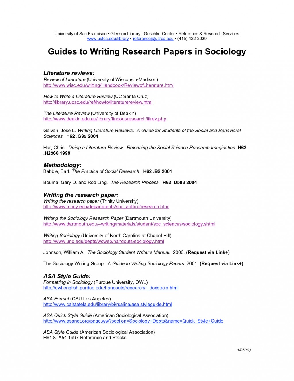 026 Asa Format Research Paper Example Sample For Sociology 135604 Singular Large