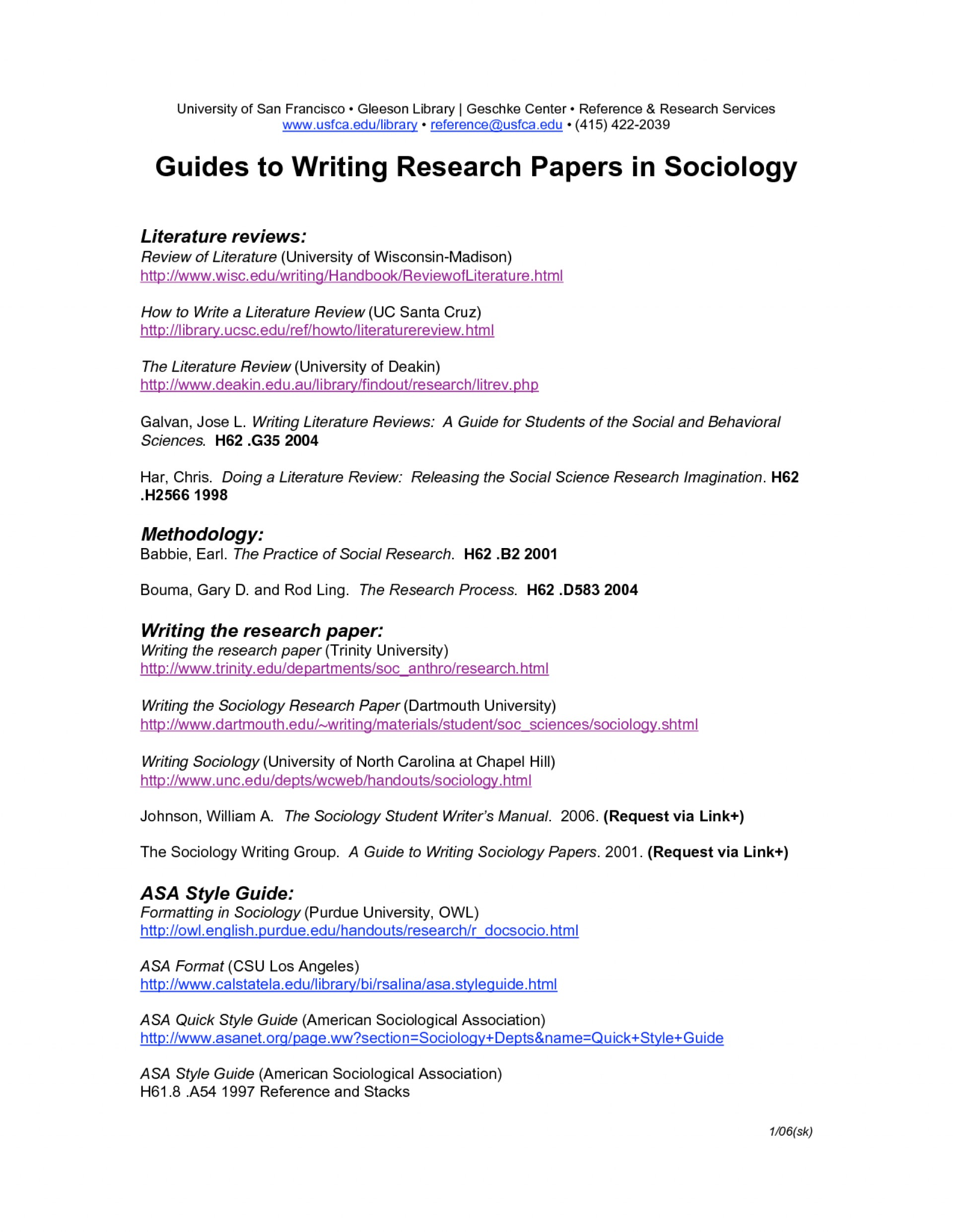 026 Asa Format Research Paper Example Sample For Sociology 135604 Singular 1920