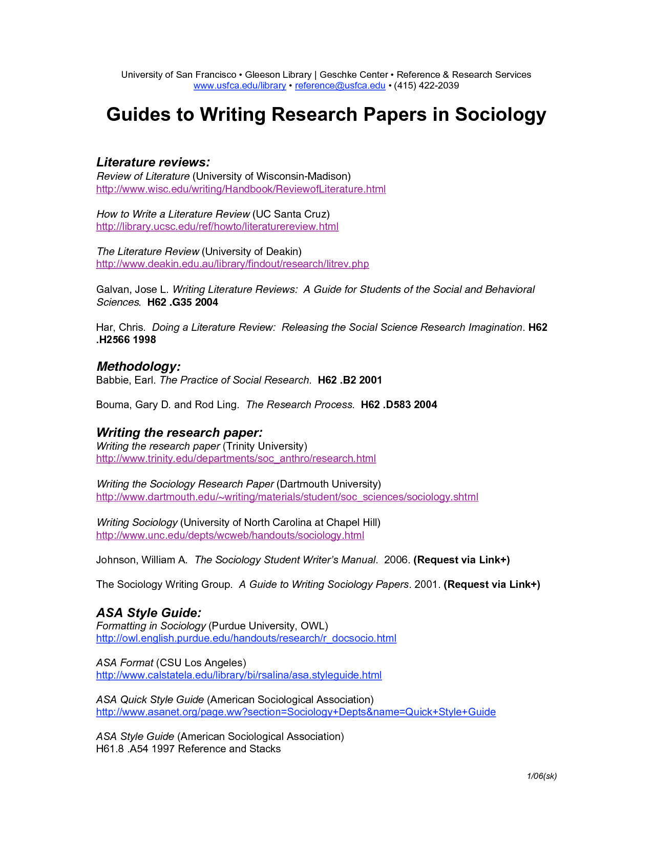 026 Asa Format Research Paper Example Sample For Sociology 135604 Singular Full