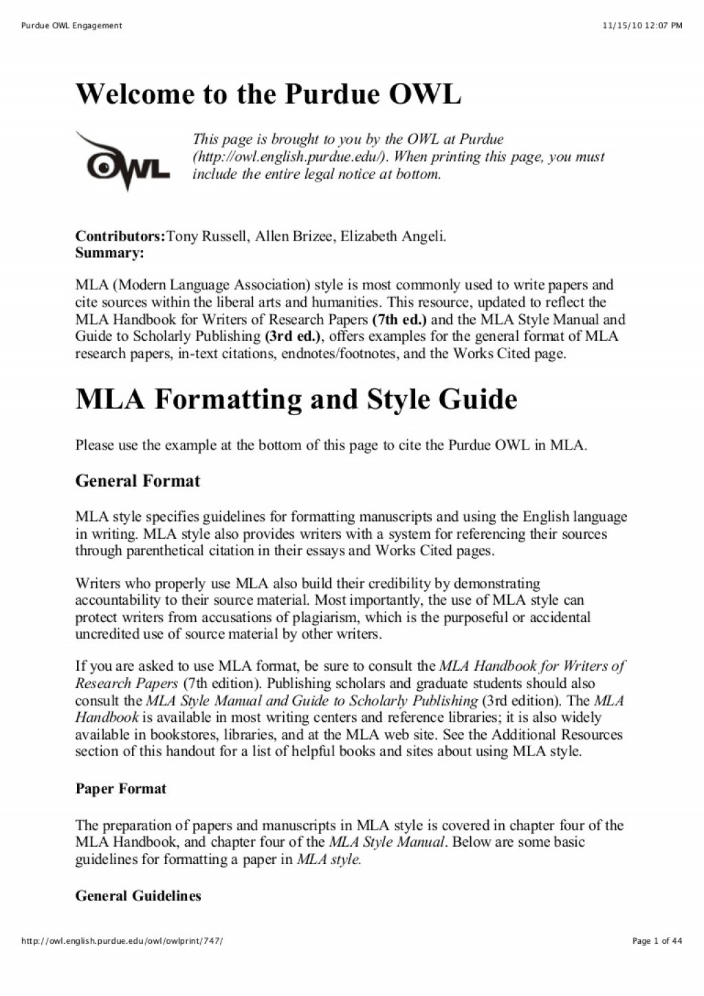 026 Citation Page For Research Paper Purdueowlmlastyleguide Phpapp02 Thumbnail Wonderful How To Make A Works Cited About The Little Rock Nine Large
