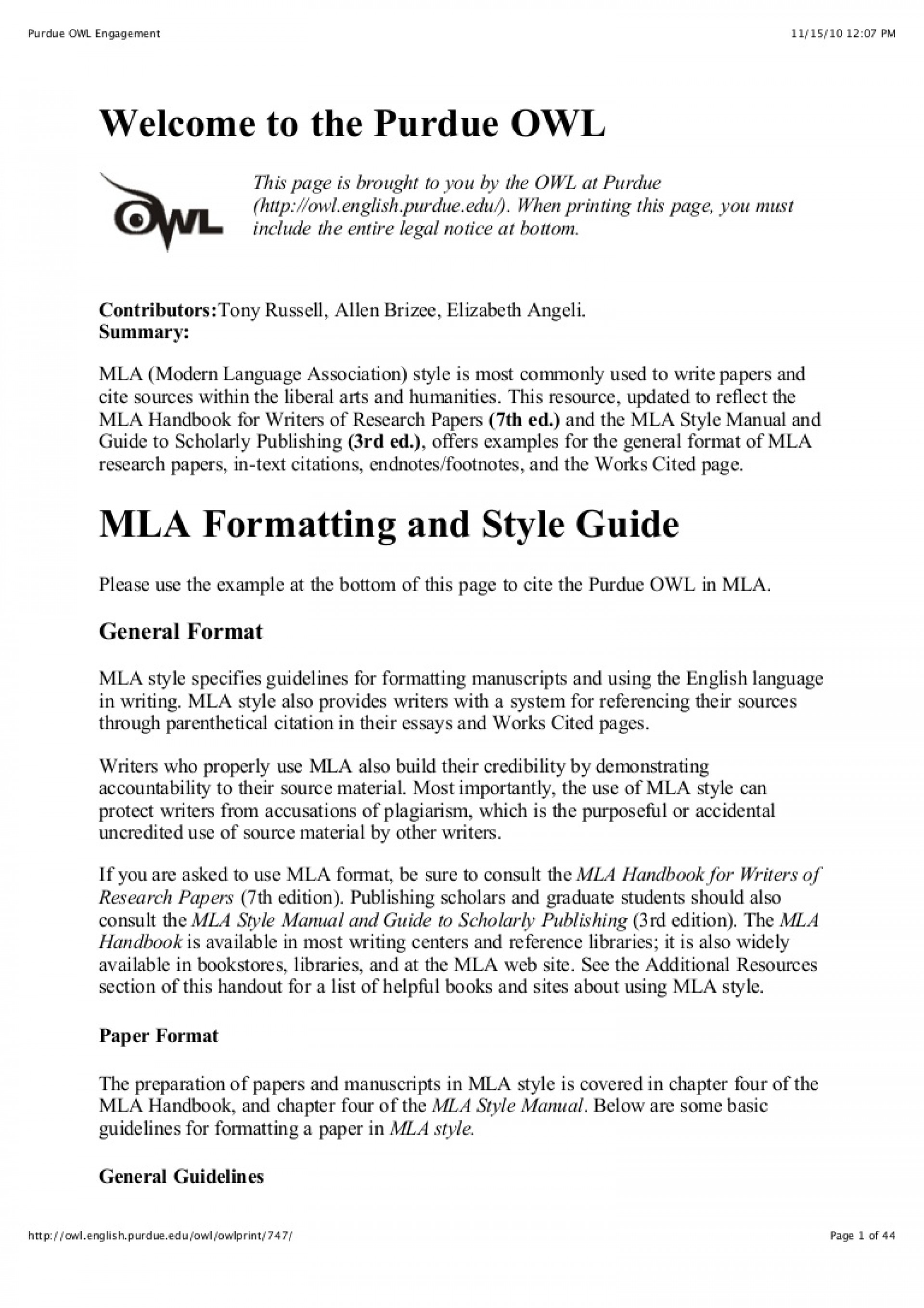 026 Citation Page For Research Paper Purdueowlmlastyleguide Phpapp02 Thumbnail Wonderful How To Make A Works Cited About The Little Rock Nine 1920