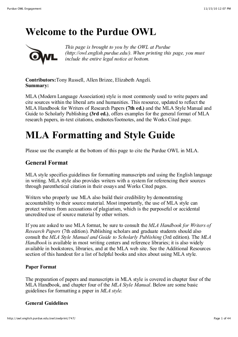 026 Citation Page For Research Paper Purdueowlmlastyleguide Phpapp02 Thumbnail Wonderful How To Make A Works Cited About The Little Rock Nine Full