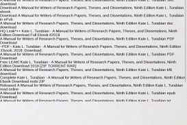 026 Source Research Paper Manual For Writers Of Papers Theses And Magnificent Dissertations A 8th Ed Pdf