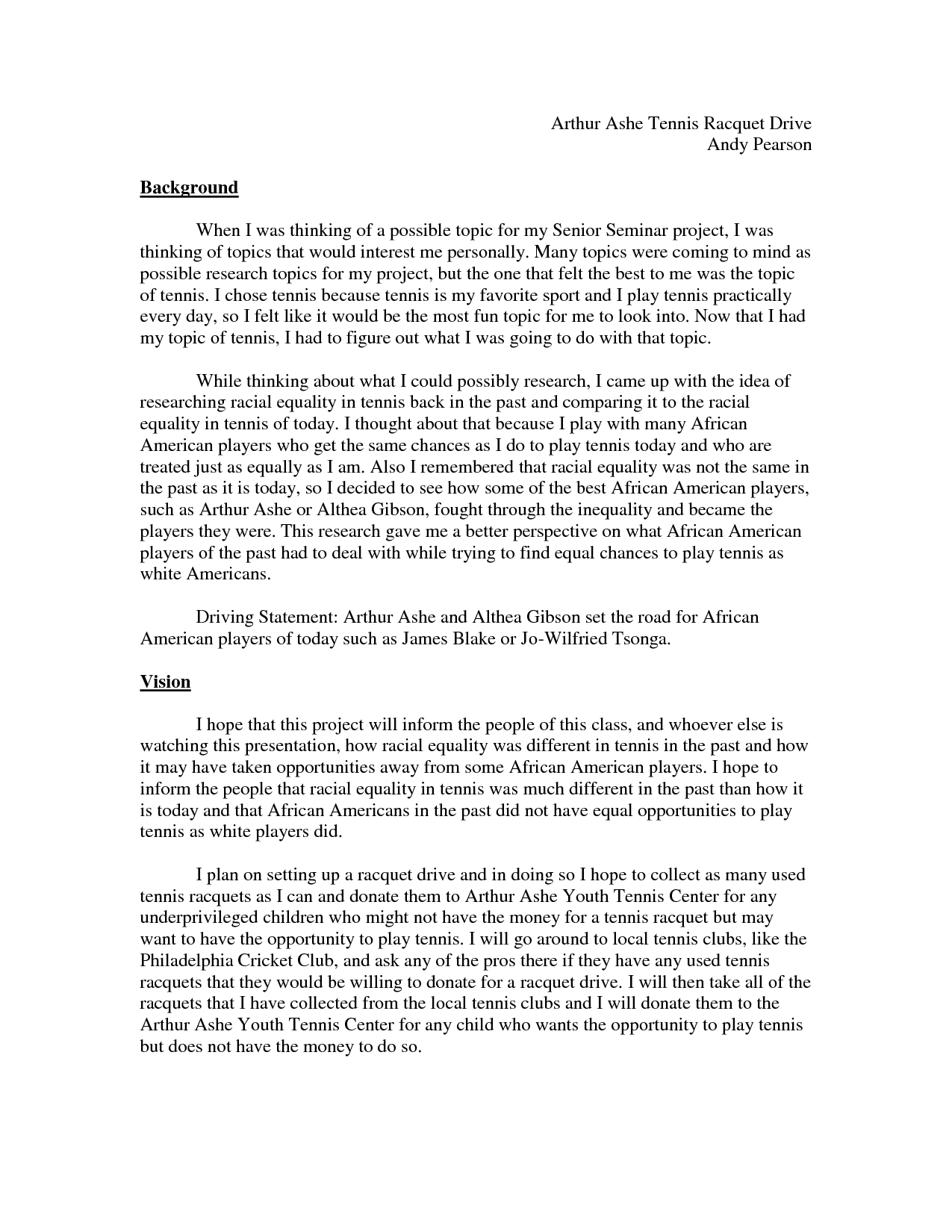 student research proposal example