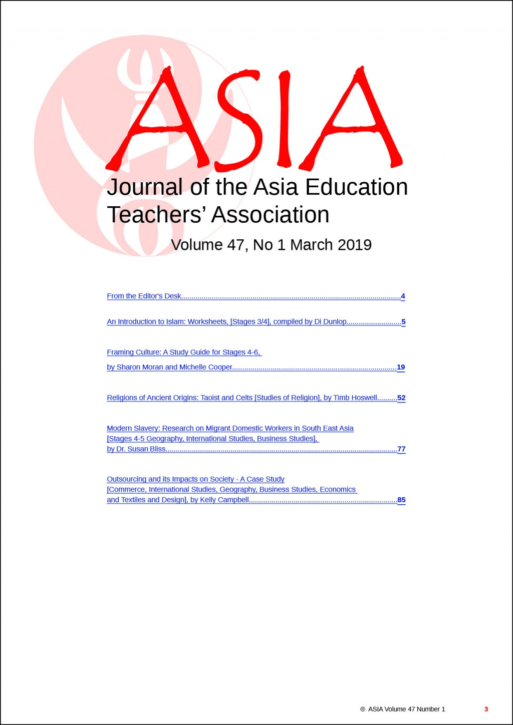 028 Free Download Researchs On Education Contents  Asiajournal Vol47 No1 March2019 Stunning Research PapersLarge