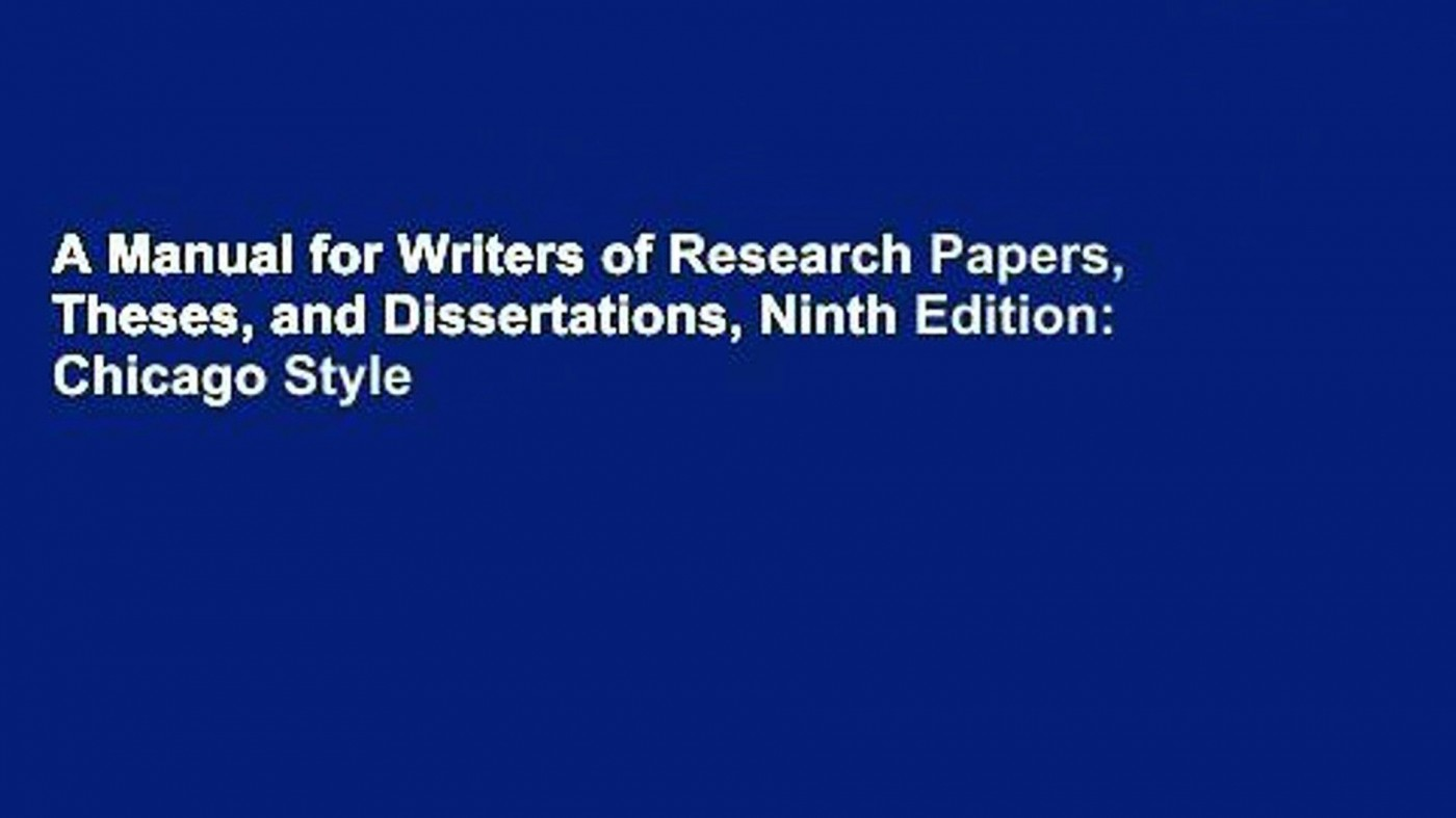 028 Manual For Writers Of Researchs Theses And Dissertations X1080 V4x Sensational A Research Papers Ed. 8 8th Edition Ninth Pdf 1400