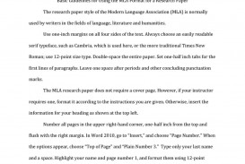 028 Research Paper Example Abstract Mla Unbelievable
