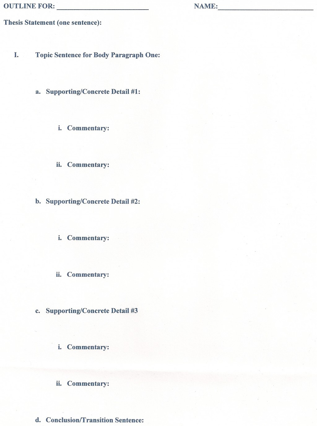 029 Research Paper Formats Outline Singular Format Elementary Writing Ppt Large