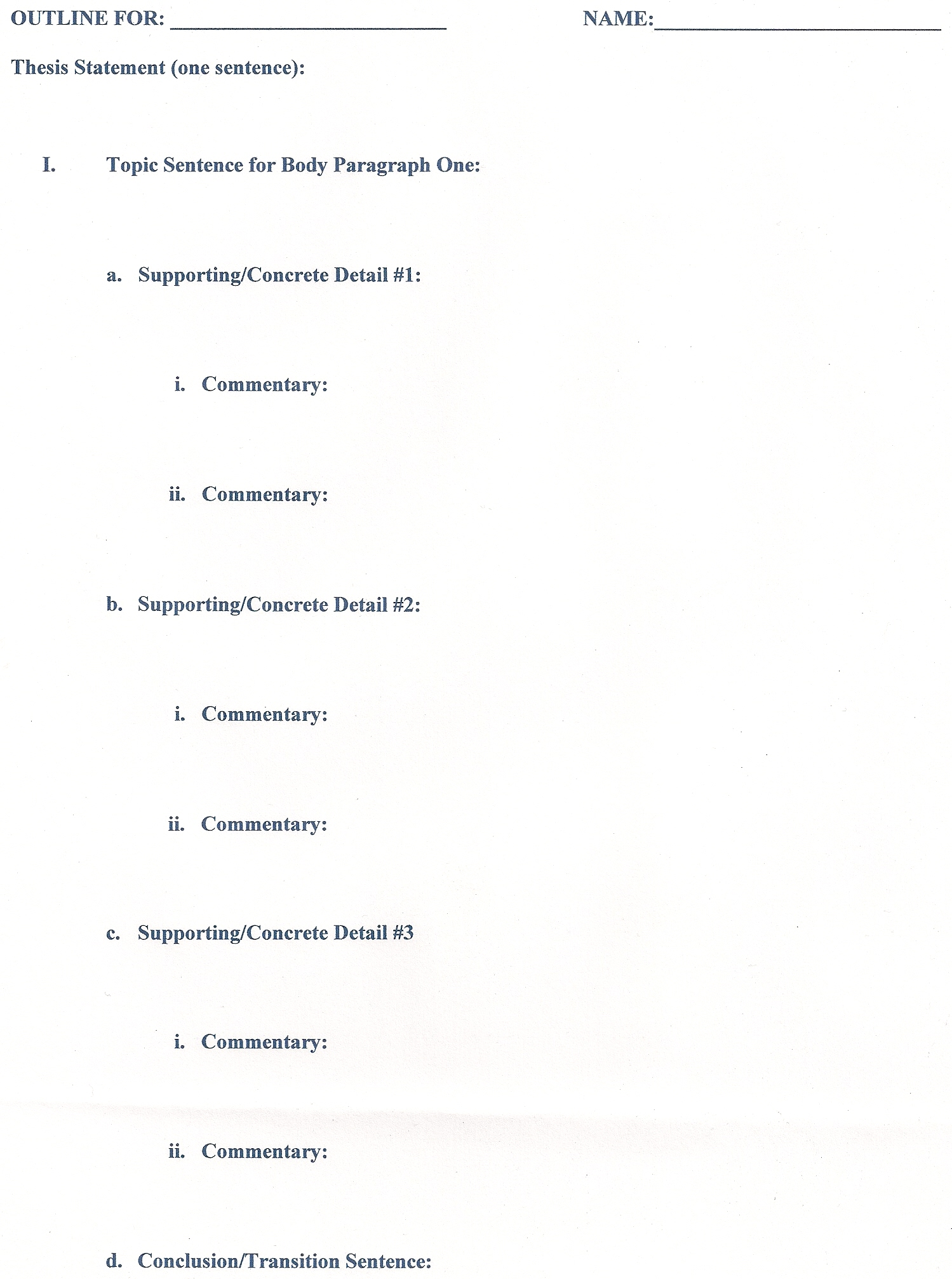 029 Research Paper Formats Outline Singular Format Elementary Writing Ppt Full